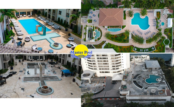 swimming pool before and after
